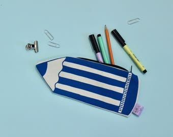 Novelty pencil case, Back to school gift, Screen printed pouch, Make up bag, Big pencil, stationery addict, gift for student