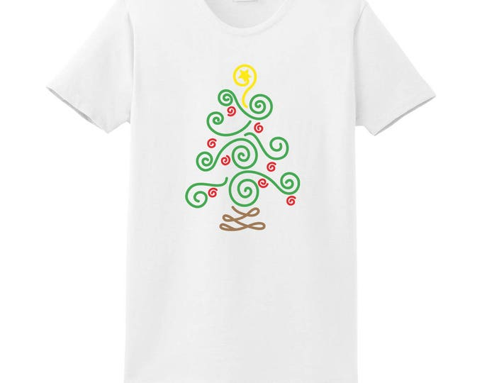 Christmas Tree Swirl T-shirt