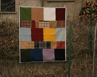 Plaid wool multicolor patchwork quilting