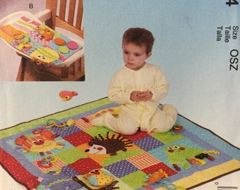 Sewing Pattern for Applique Play Quilt and Mats, McCall's Crafts 7104, Baby Play Mats, Floor Play Mat, High Chair Play Mat, Baby Shower Gift