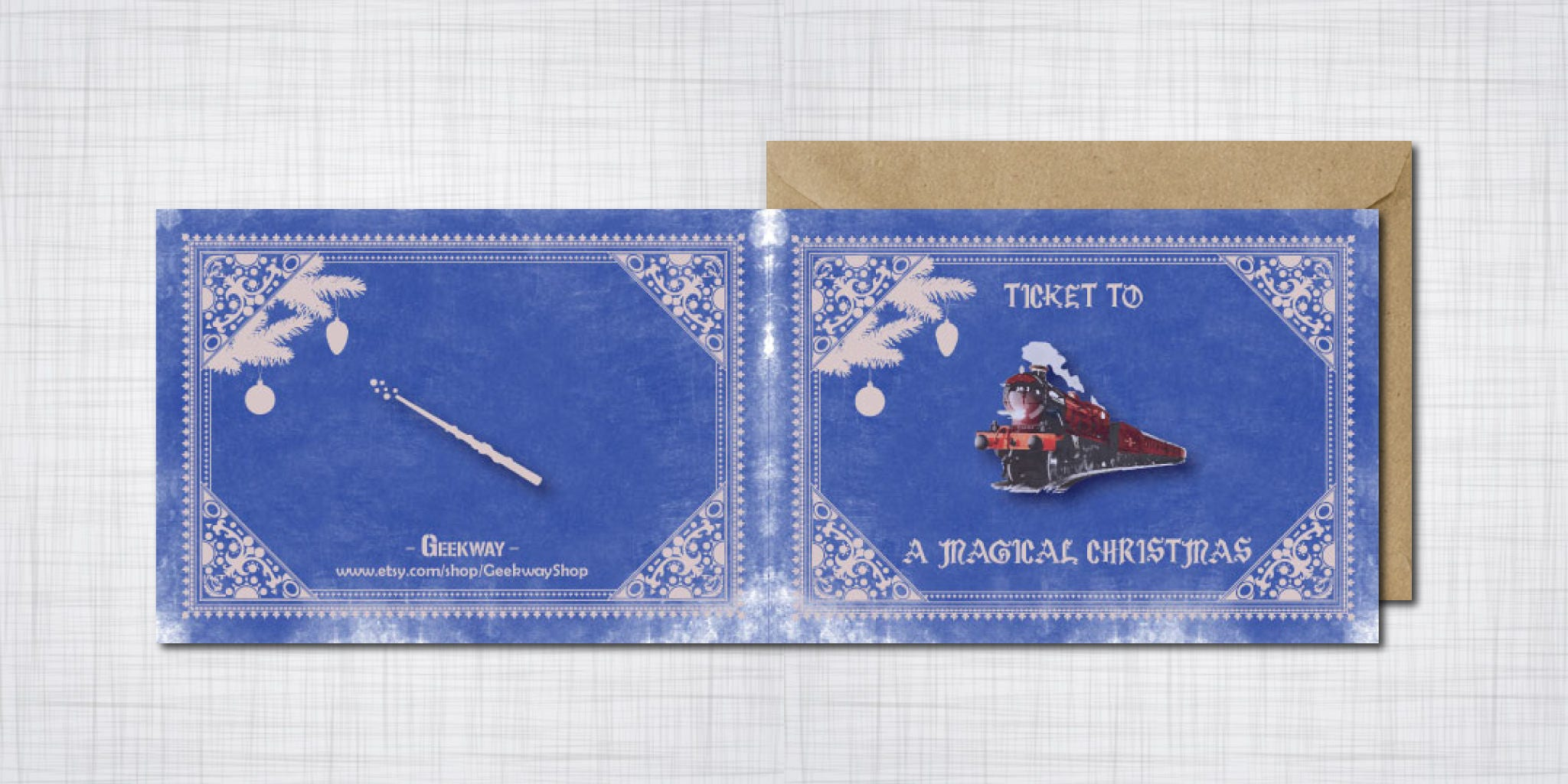 hogwarts express christmas card harry potter ravenclaw geek christmas cards hogwarts express ticket