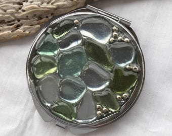 Gorgeous Scottish Sea Glass Mirror M 22.6.17.1