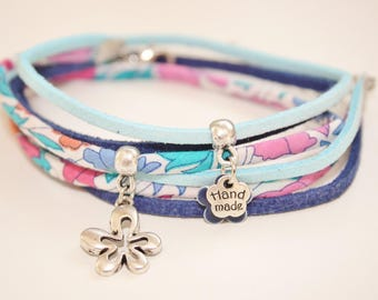 "Bracelet lucky charm ""blooms"" blue and turquoise"