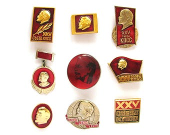 Soviet Badges, Lenin, Pick from Set, Communism, Party, Vintage collectible badge, Soviet Vintage Pin, Soviet Union, Made in USSR, 70s - 80s