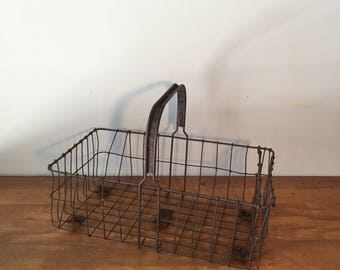 Rusty shopping basket with great patina