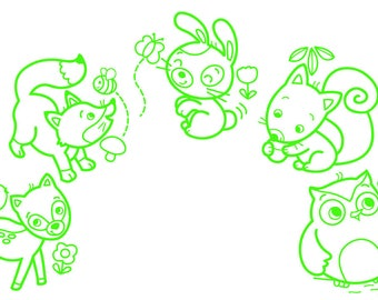 """Baby """"Mold"""" stamps - forest animals"""