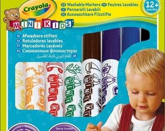 Set of 8 felt washable Crayola Minikids