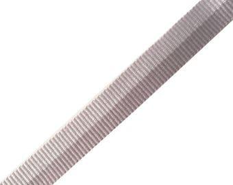 Gray two-tone fancy Ribbon