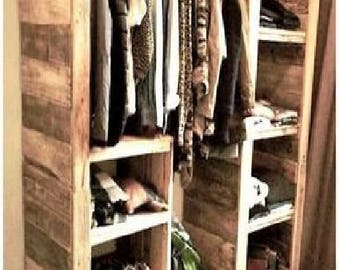 reclaimed wood, pallet, bedroom furniture, pallet furniture, armoire, farmhouse decor, pallet decor, reclaimed decor, pallet armoire, easter