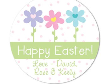 Easter gift tags etsy easter stickers hoppy easter personalized easter gift tags favor tags for easter negle Choice Image
