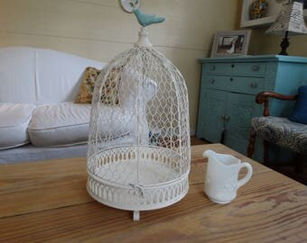 Birdcage display,Cottage Decor,French Country,Shabby Chic