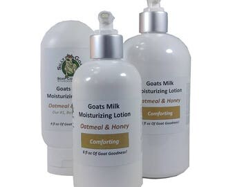 Lotion, Oatmeal & Honey lotion, Oatmeal Lotion, Goat Milk Lotion, Honey Lotion,