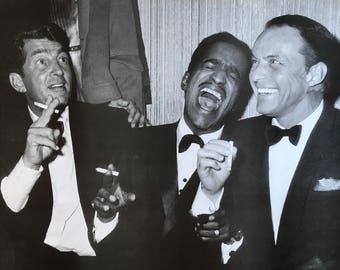 Wall Art, Music Poster, The Rat Pack Live At Carnegie Hall, Frank Sinatra Dean Martin Sammy Davis Jr poster 24 x 33