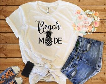 Beach Mode Tank/Vaca Mode Shirt/ Vaca Mode Top/Vacation Mode Top/Cruise Shirt/ Vacay Top/Cruise Top/Spring Break Shirt/Beach/brides/ tank
