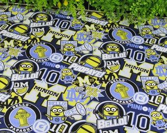 100x145cm/39x57inch Kwaii Stretch Minions 100% Cotton Poplin Fabric
