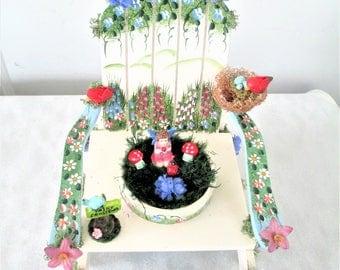 Fairy Garden Fairy Chair, Fairy Garden Chair, Fairy Garden Planter, Fairy Garden, Fairy Flower Garden