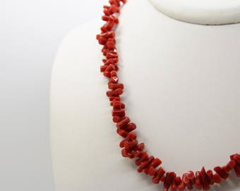 Necklace 45 cm with red coral from Corsica 1st choice CC 45