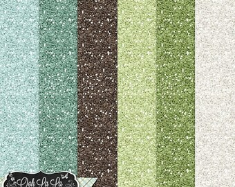 On Sale 50% Afternoon Stroll 12x12 Glitter Papers Backgrounds Digital Scrapbooking, Spring, Summer