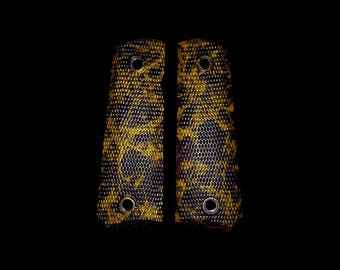 Gold & Black Marble 1911 Grips