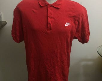 Vintage nike gray tag polo shirt size large 80s 90s