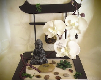 Japanese garden with orchids to customize