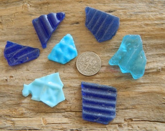 Pretty blue sea glass pieces for crafts,