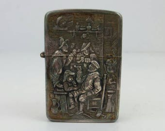 HH 90 Plated silver Lighter made in Holland