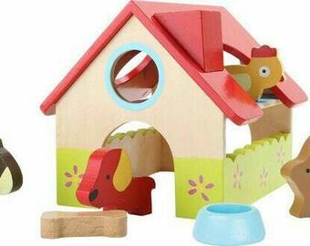 Wooden Farm Play House