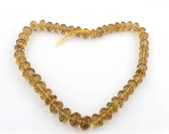 Valentines Day 1 Strand Beer quartz Faceted Big Rondelles - Beer quartz  Faceted Roundle beads 17 Inches 14mm-19mm SB2586