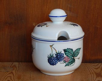 Villeroy & Boch Blackberry Jam Pot/ Sugar Bowl Luxembourg