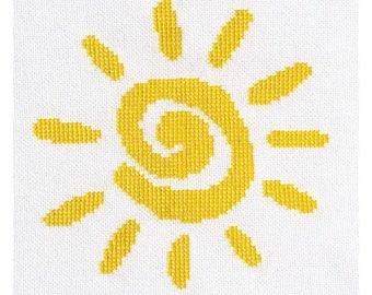 Cross Stitch to Calm: Sunshine Cross Stitch Chart Download (804240)