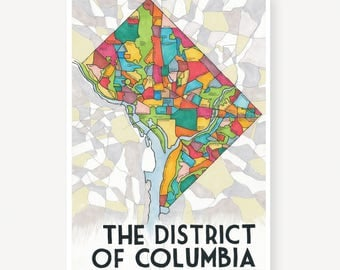 The District of Columbia Map