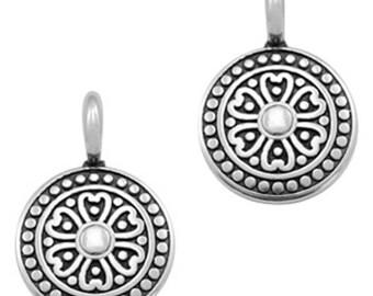 """DQ Metal Pendant """"Mandala""""-2 pcs.-Color selectable (colour: antique silver)"""