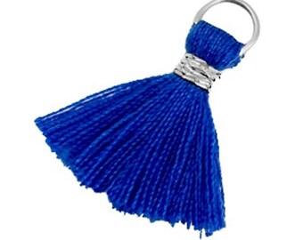 Tassels, tassel-3 pcs.-1.8 cm-Color selectable (color: blue)