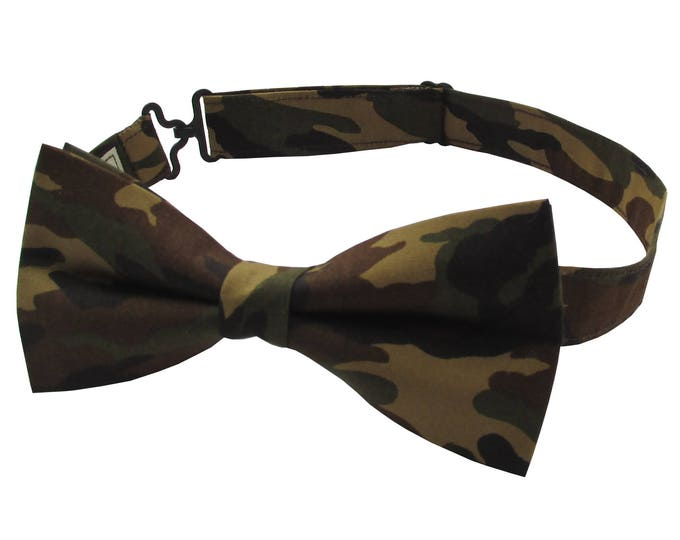 Camouflage Military Style Adjustable Bow Tie