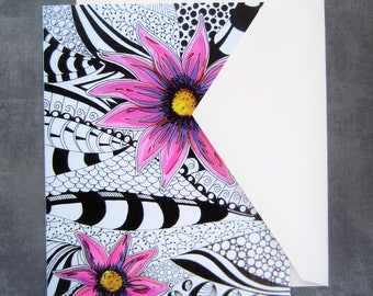 Multi pack cards, greeting cards, packaged cards, print cards, colourful greeting cards, blank cards, 4 pack cards, flower cards, floral art