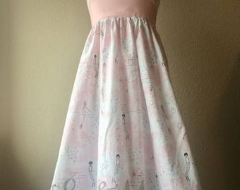 The Olivia Dress - Mermaids and Narwhals - Size 5 - Ready to Ship