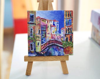Colorful Painting of Italian streets