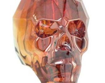 ON SALE Swarovski Faceted Crystal Red Magma Skull Beads 5750 Swarovski Crystals Red Swarovski Skull Bead 13mm (1 pc) 5V30