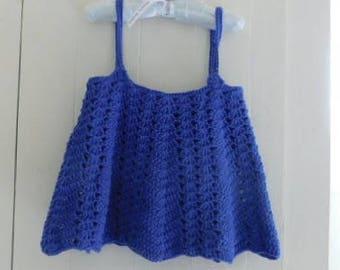 Girls Crochet Cotton Top