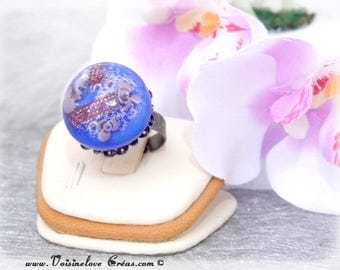 Soft Navy cabochon ring
