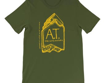 Appalachian Trail T-shirt: A.T. One With Nature, Olive