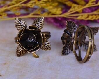 Set of 2 brackets (T276) Bronze Adjustable ring
