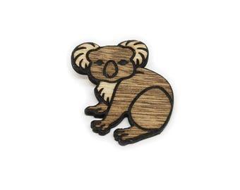 Wooden Koala Pin