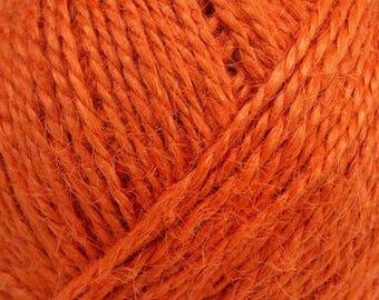 400 gr Craft Yarn, Hemp Yarn, Natural Hemp Cord, Hemp Twine, Macrame Cord , DK Orange Yarn, Hemp Fiber Art Yarn, Macrame Rope, Yarn Bulk