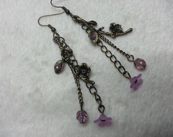 Sakura pink dangling earrings