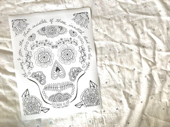 Day of the Dead Sugar Skull PRINTABLE