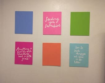 Lilly Pulitzer Inspired Canvases (Set of 6)