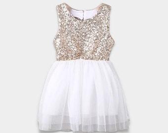 Gold Sequin Heart Dress
