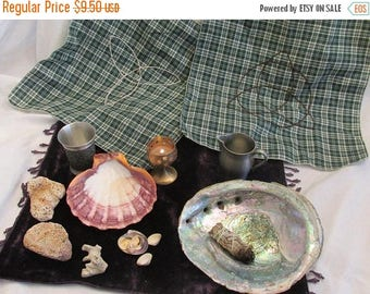 Summer Sale Small Altar cloth, Tarot cloth, Pagan, Wicca, Celtic